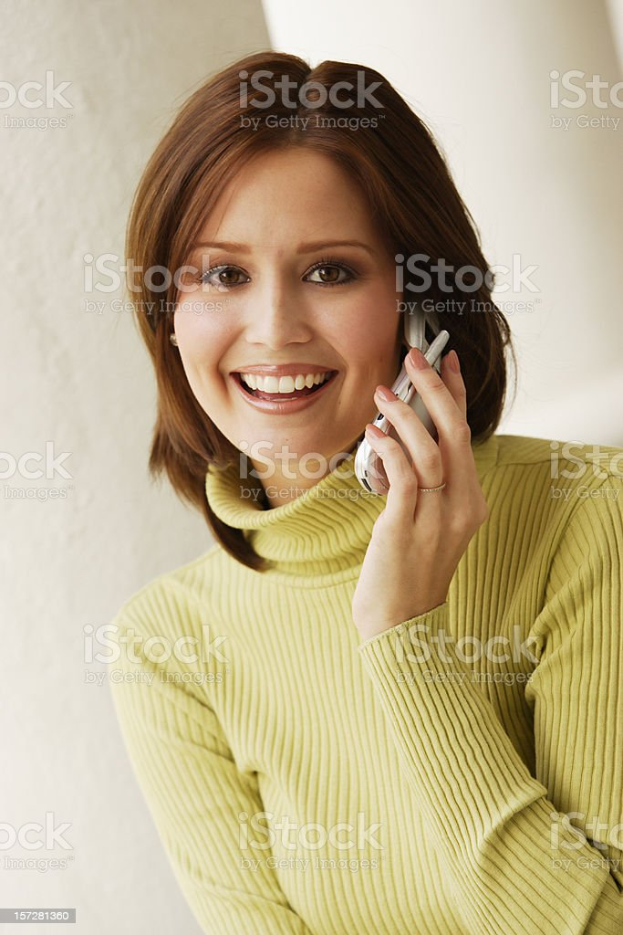 Woman Cell Phone III royalty-free stock photo
