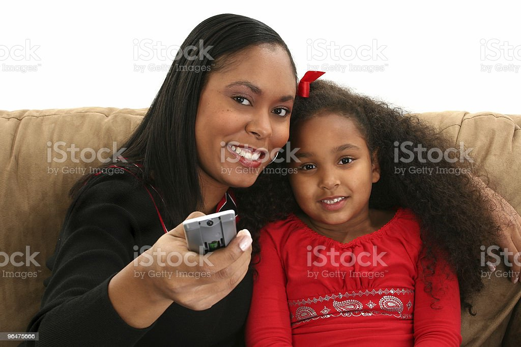 Woman, Child, Remote royalty-free stock photo