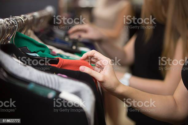 Woman choosing clothes on rack closeup picture id518622772?b=1&k=6&m=518622772&s=612x612&h=tr2phdjatcxqgkkkk6mzj5afapdpaulco xloo3mv8m=