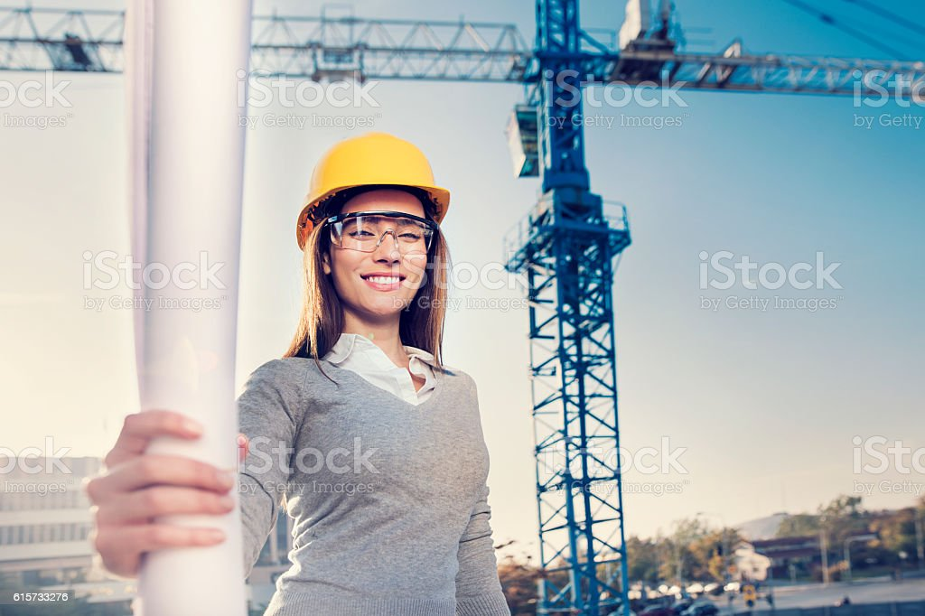 Woman civil engineer or architect – Foto