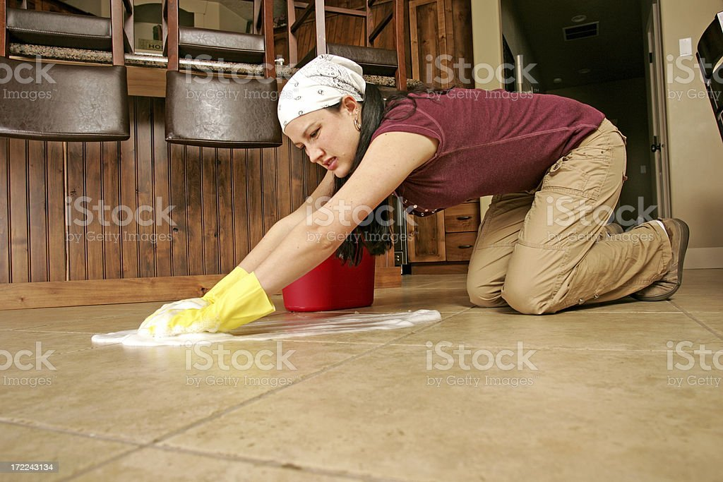 Woman Cleaning royalty-free stock photo