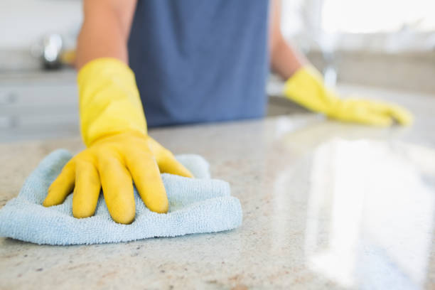 woman cleaning the counter - clean stock pictures, royalty-free photos & images