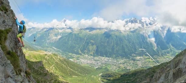 Frau Klettern in Chamonix – Foto