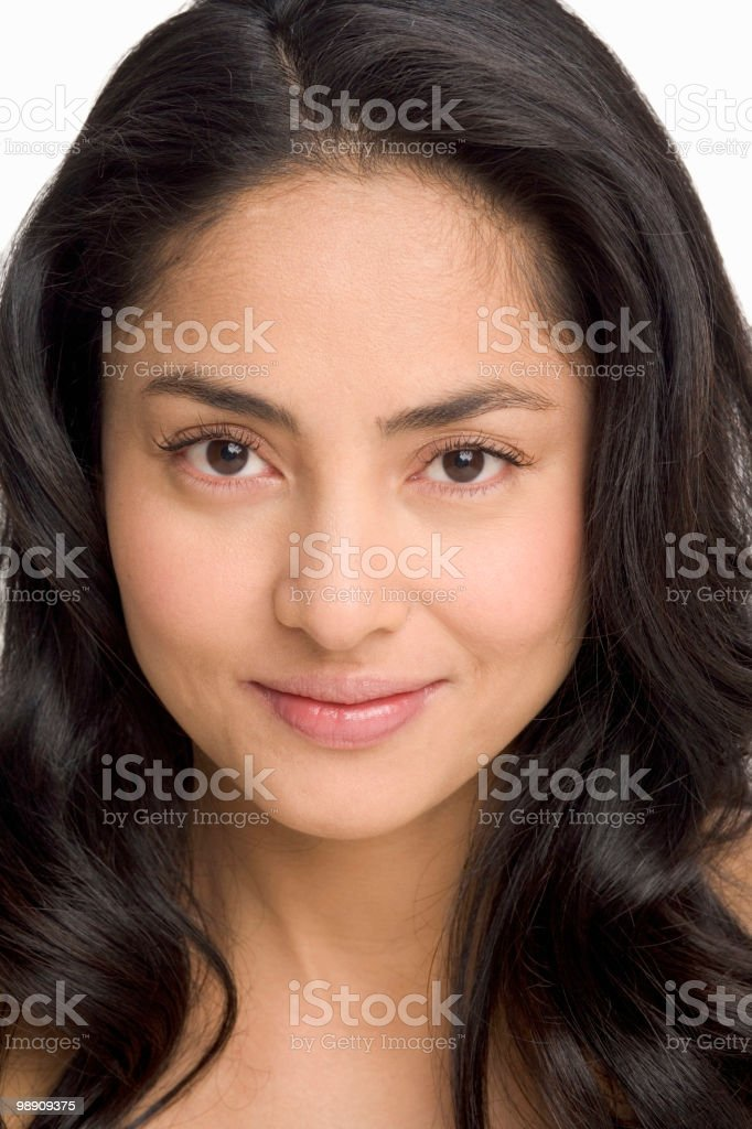 Woman close-up, portrait royalty-free stock photo