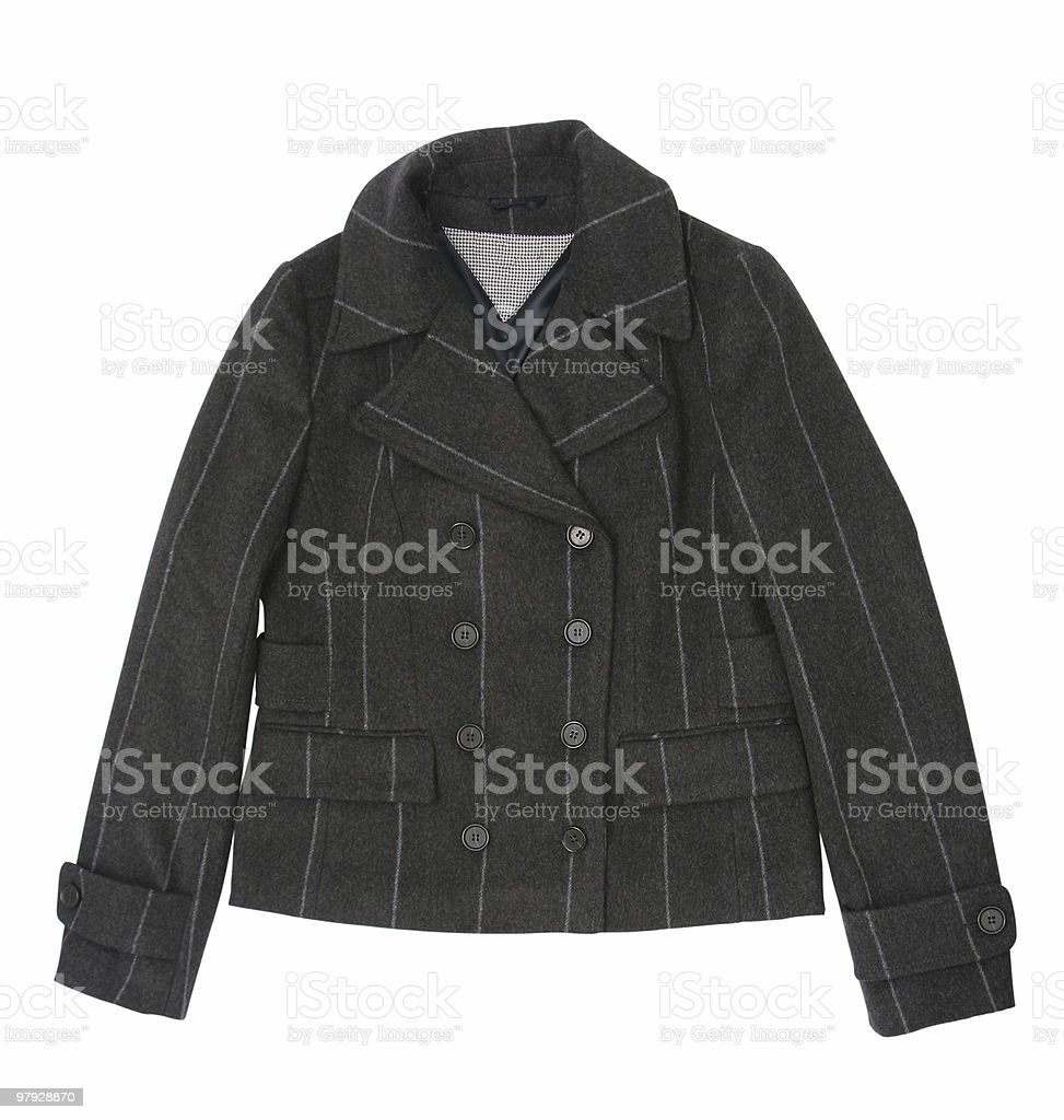 Woman clothes coat royalty-free stock photo