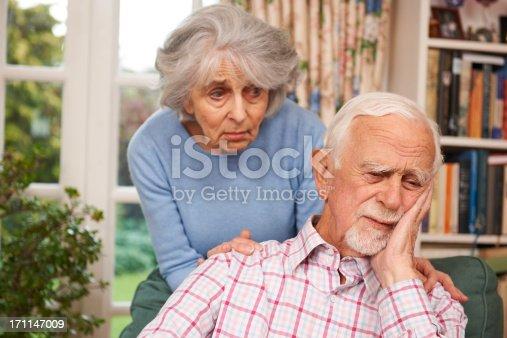 istock Woman Comforting Senior Man With Depression 171147009