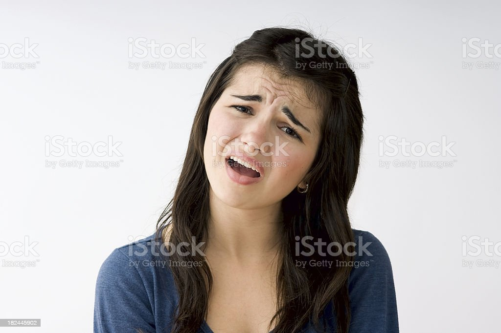Woman Complaining stock photo