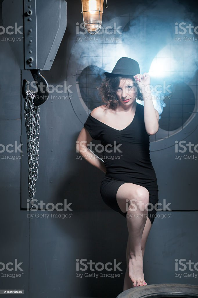 woman, construction, beauty, fashion stock photo
