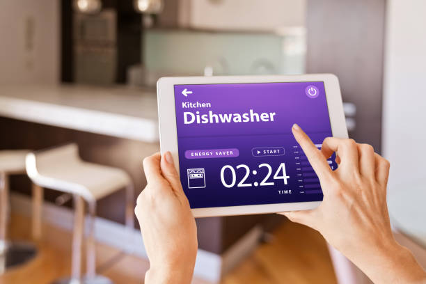 woman-controlling-dishwasher-with-a-digital-tablet-at-home-picture-id1251345063?k=6&m=1251345063&s=612x612&w=0&h=MBTuOwlwuLPsMX4lRwu_RgHFdMbInnxWsx6aSdhcpj4=, Kitchen Renovation, Bathroom Renovation, House Renovation Auckland