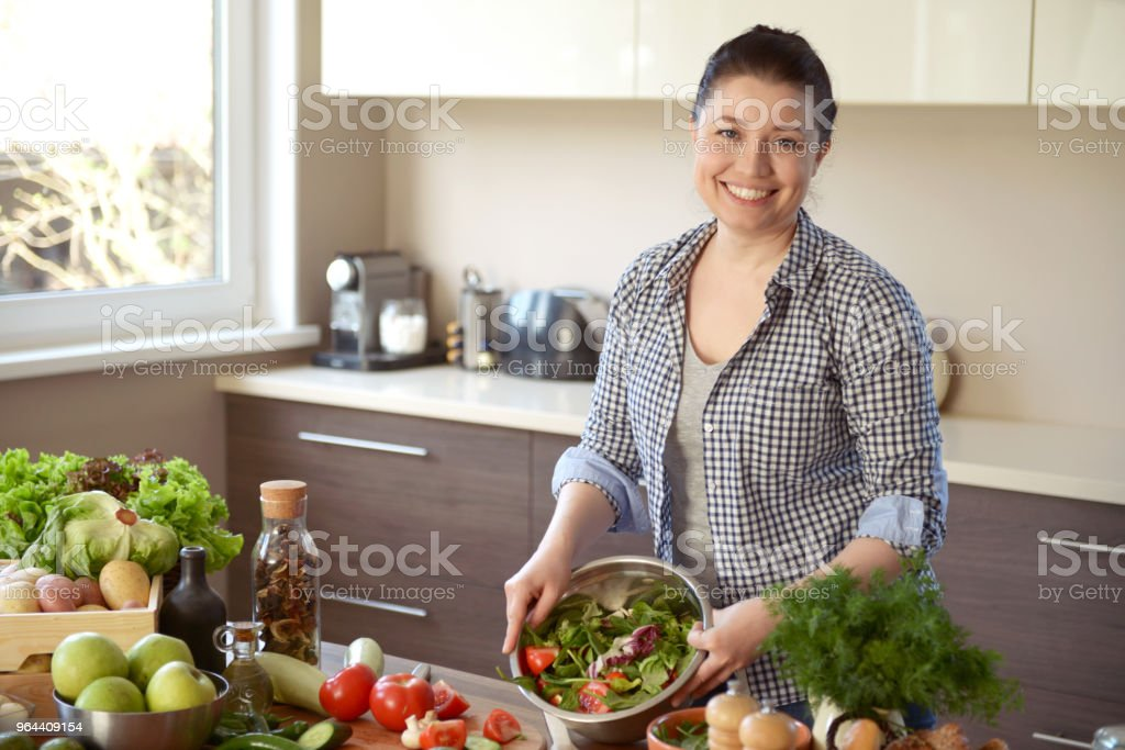 woman cooking in the kitchen - Royalty-free 30-39 Years Stock Photo