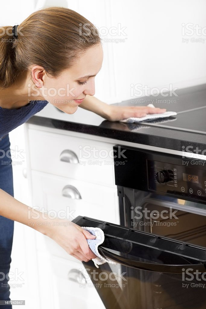 Woman Cooking or Baking stock photo