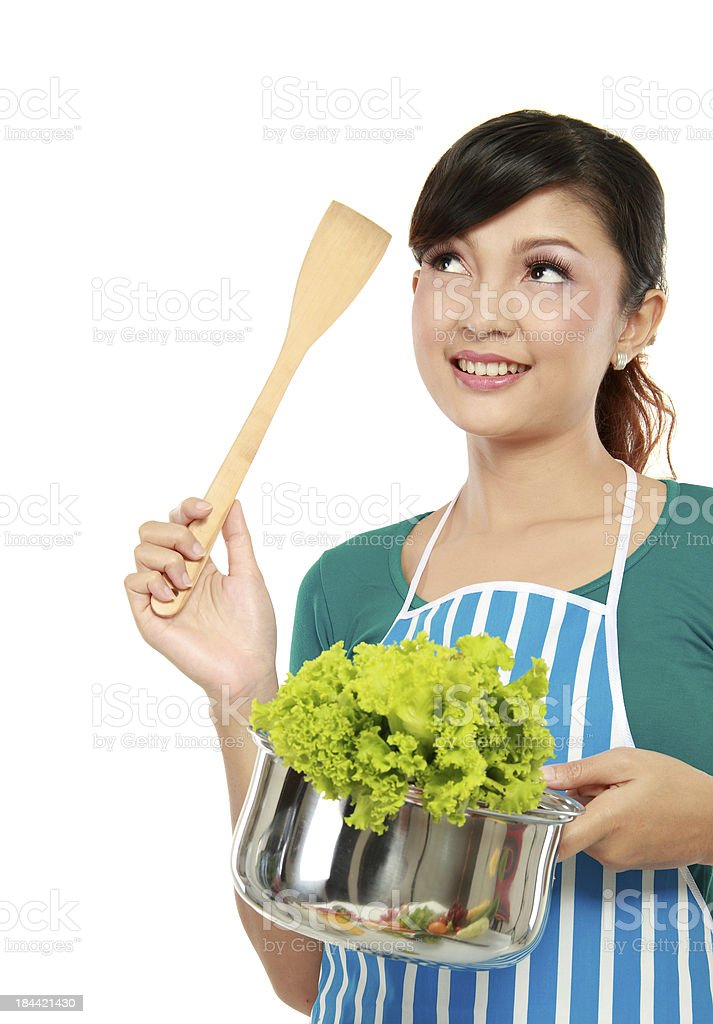 woman cooking royalty-free stock photo