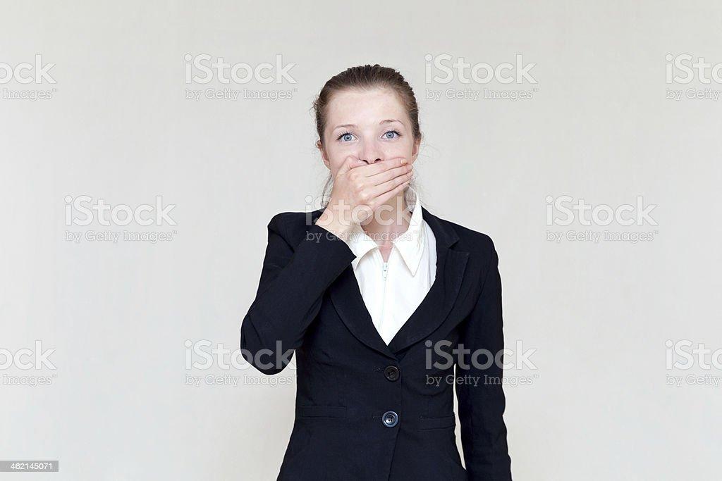 Frau auf den Mund – Foto