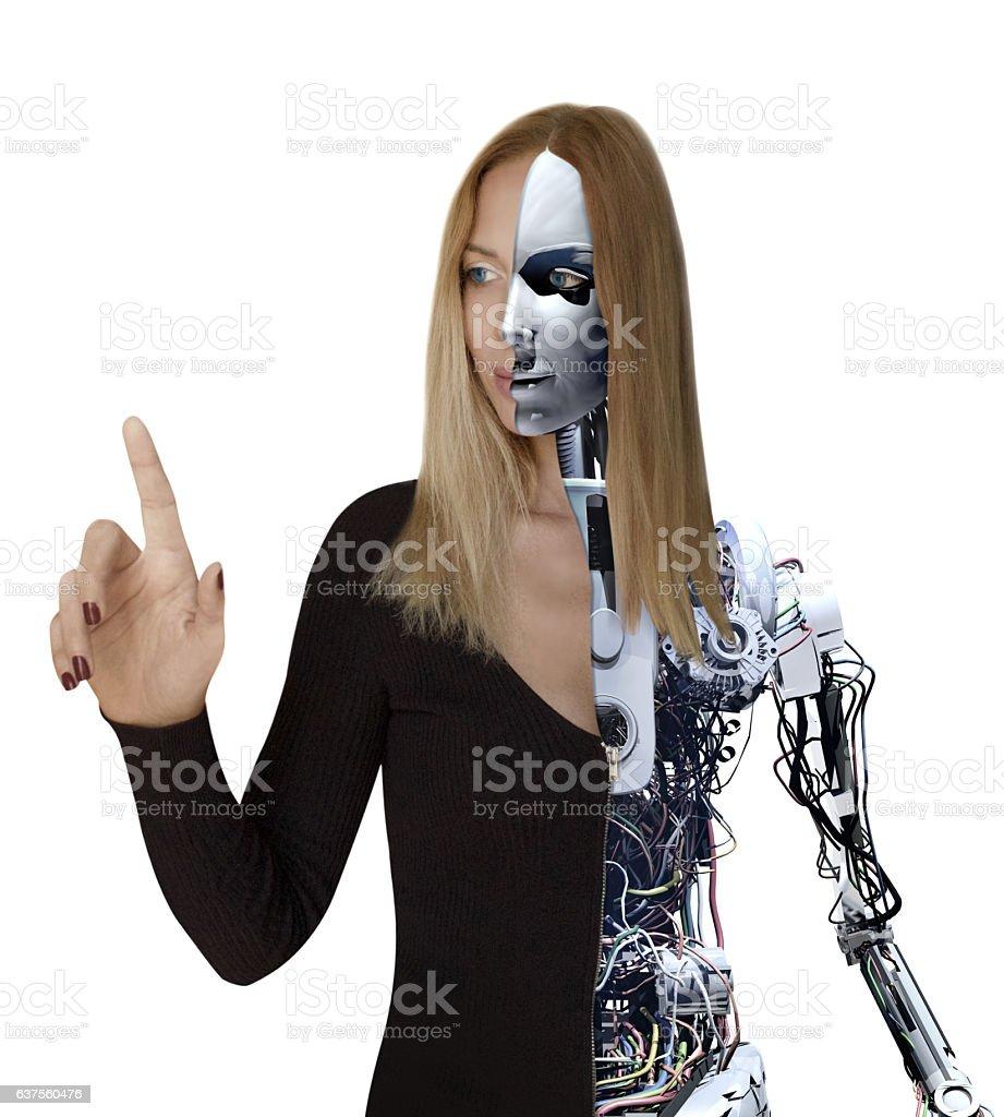 Woman Cyborg stock photo