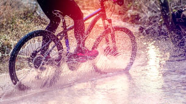Femme à vélo - Photo