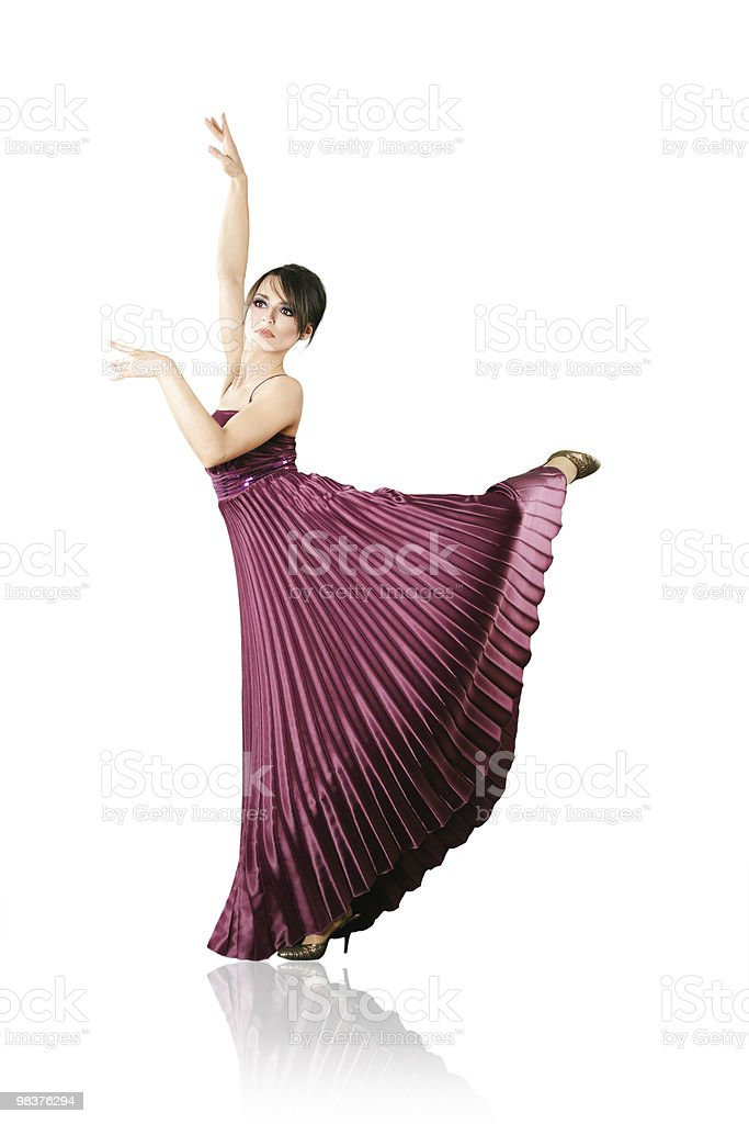 Woman dancing classic ballet royalty-free stock photo