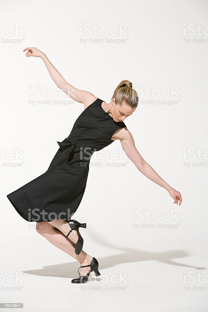 A woman dancing 免版稅 stock photo