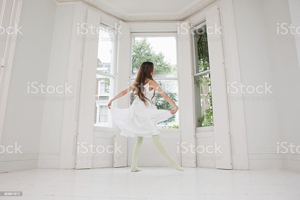 Eine Frau Tanz Lizenzfreies stock-foto