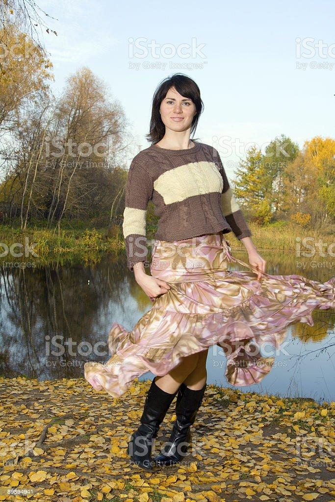 Woman dancing royalty-free stock photo