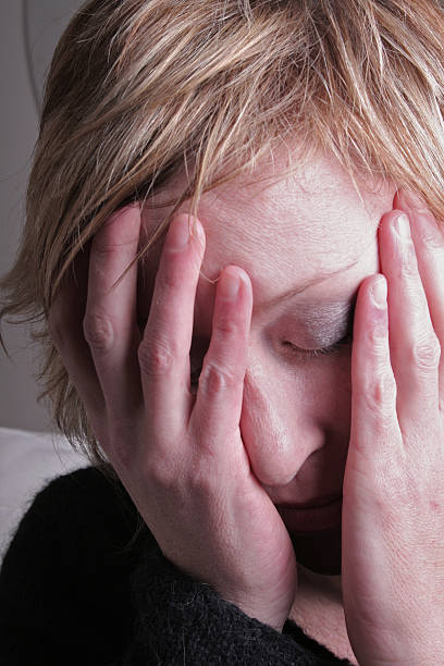 Woman Depressed stock photo
