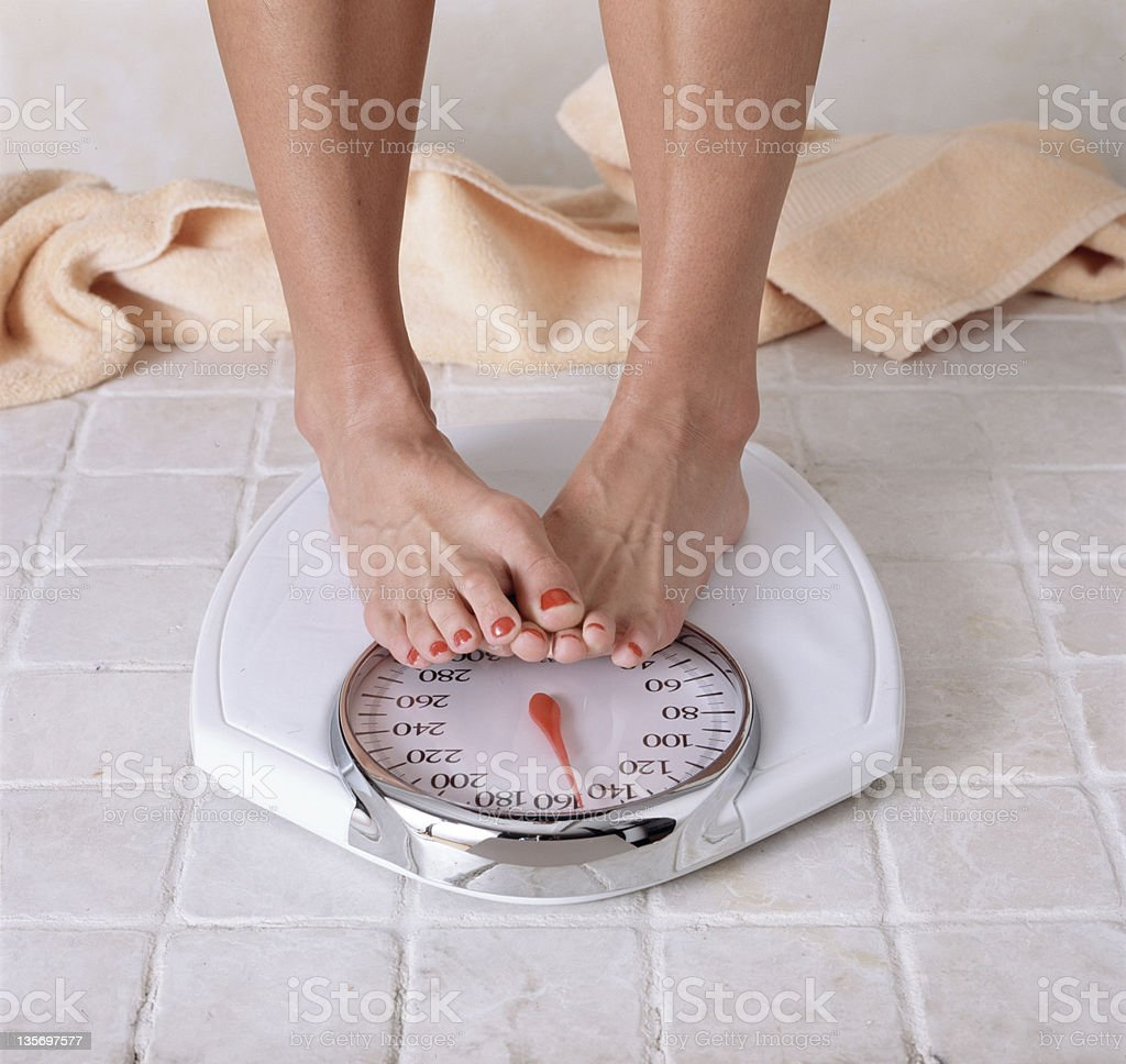 Woman dieting stock photo
