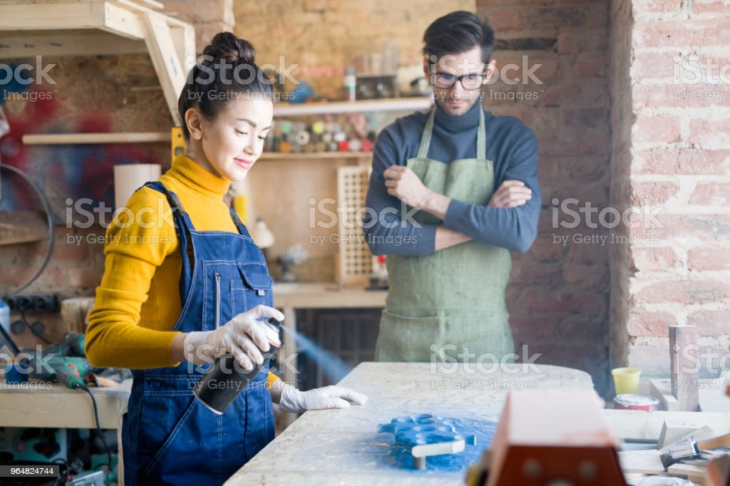 Woman Doing Creative Woodwork Stock Photo & More Pictures of Adult