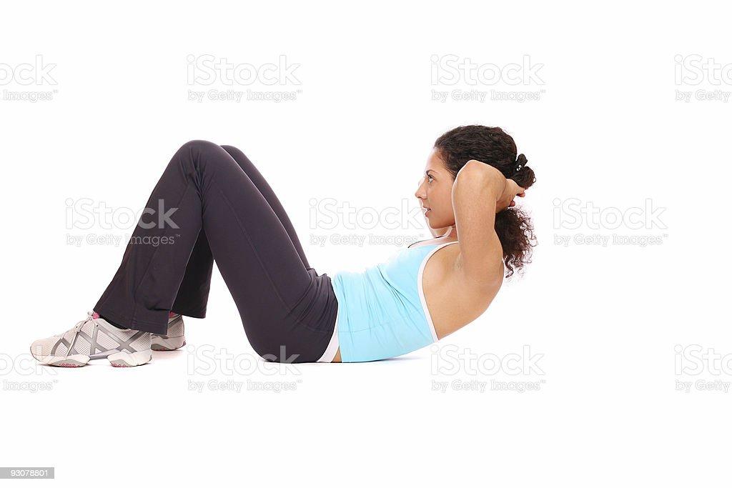 Woman doing exercise stock photo