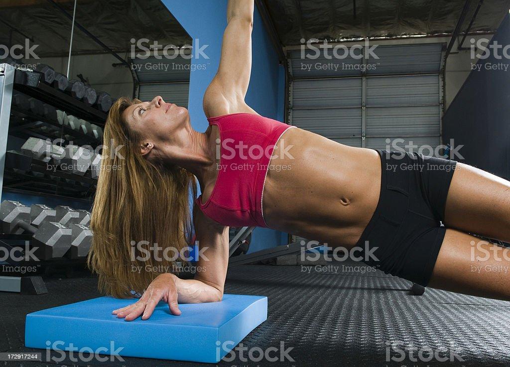 Woman Doing Floor Exercises royalty-free stock photo