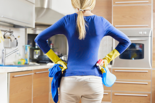 Woman Doing Housekeeping Stock Photo - Download Image Now