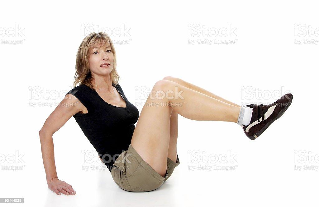Frau tun Bein heben Lizenzfreies stock-foto