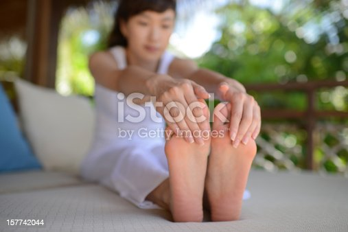 istock Woman Doing Relaxing Exercise 157742044