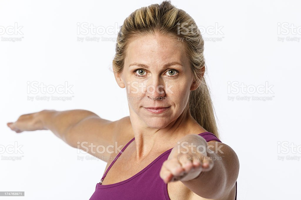 Woman Doing Stretch royalty-free stock photo