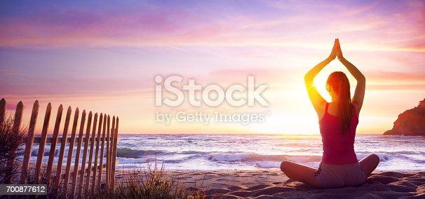 Girl Sitting Il Lotus Position