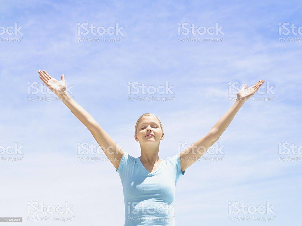 Mulher fazendo Ioga foto de stock royalty-free