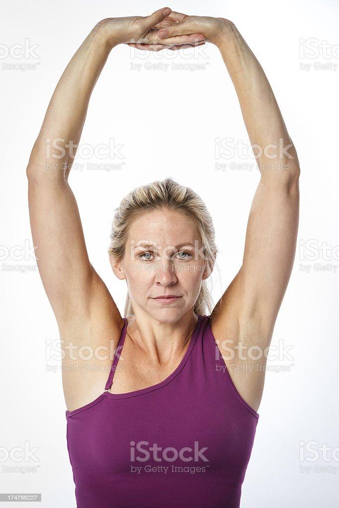Woman Doing Yoga Workout royalty-free stock photo