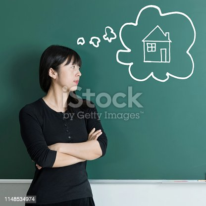 istock Woman dreaming about house 1148534974