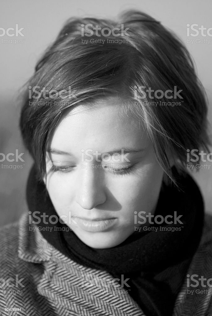 Woman Dreaming royalty-free stock photo