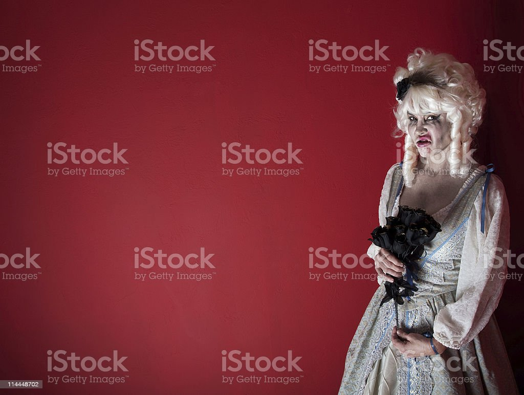 Woman dressed as Marie Antoinette stock photo