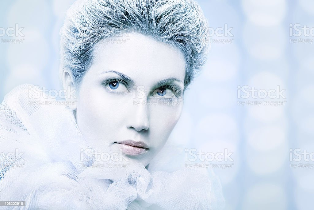 Woman Dressed as Snow Queen royalty-free stock photo