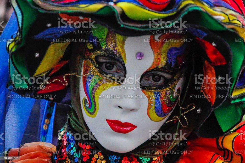 Woman dressed for Venetian Carnival, Venice, Italy Стоковые фото Стоковая фотография