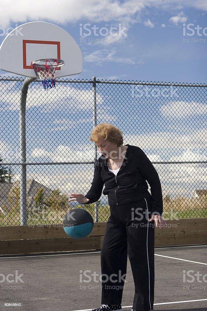 Woman Dribbling royalty-free stock photo