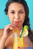 istock Woman drinking a cocktail 503703211