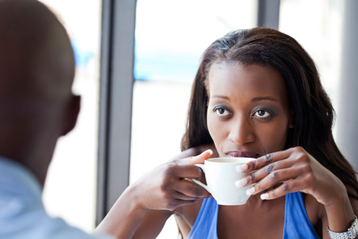 Woman Drinking Coffee Stock Photo - Download Image Now