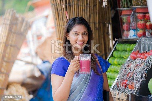 India, Delhi, Mature Women, Drinking, Juice - Drink