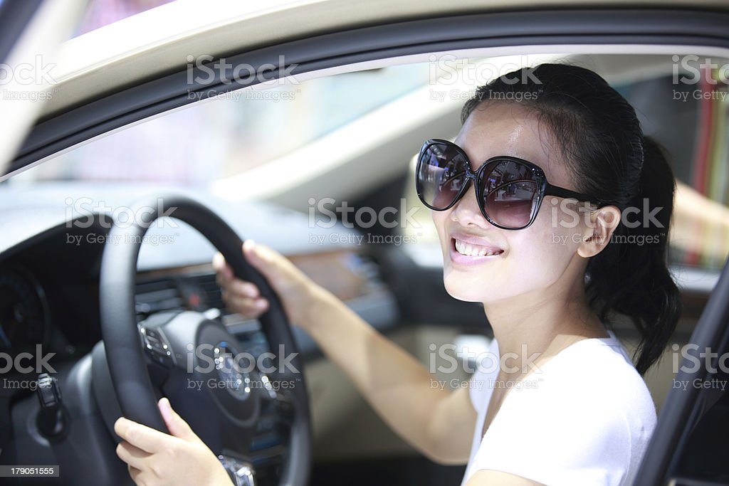 woman driver royalty-free stock photo
