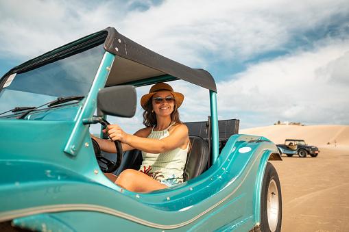 Woman, Driver, Buggy, Beach, Rio Grnade do Norte