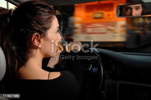 istock Woman Driving Car Los Angeles Traffic 111927480