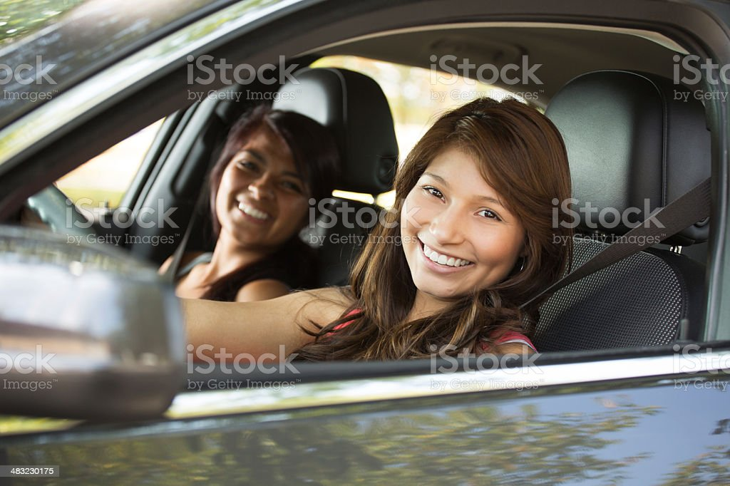 Woman Driving stock photo