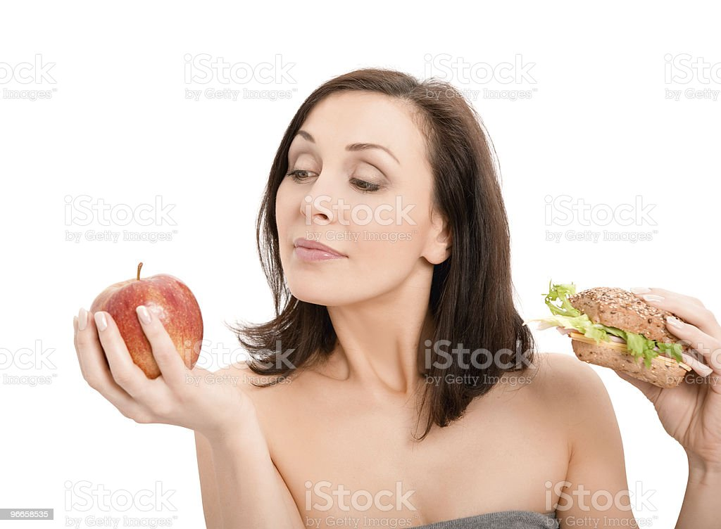 Woman Eating Burger royalty-free stock photo