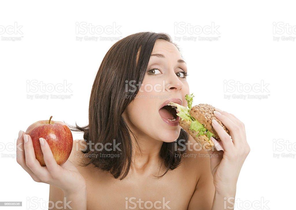 Woman Eating Burger royalty-free stock photo